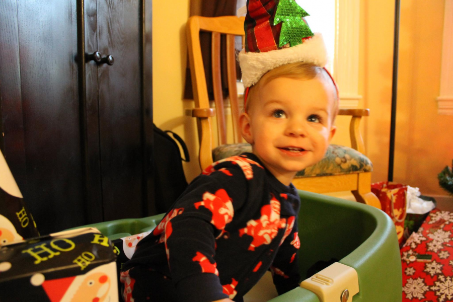 Holiday clutter with Aiden