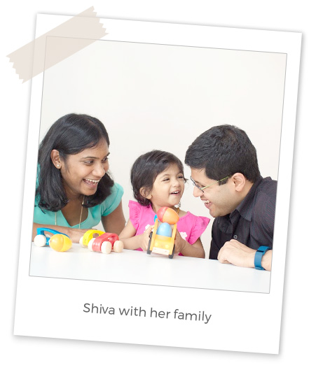 Shiva with her family