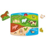Farm Animal Puzzle and Play - Double Sided