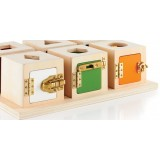 Peekaboo Lock Boxes - green, white, orange