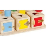 Peekaboo Lock Boxes - Red, yellow, blue